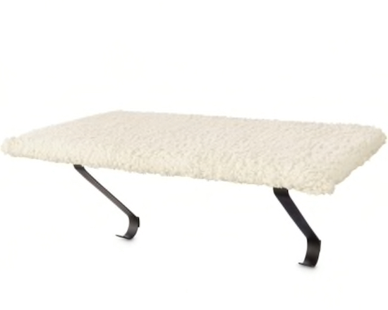 You and Me plush white cat bed for windows