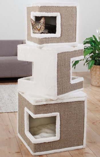 stacked cube cat tree