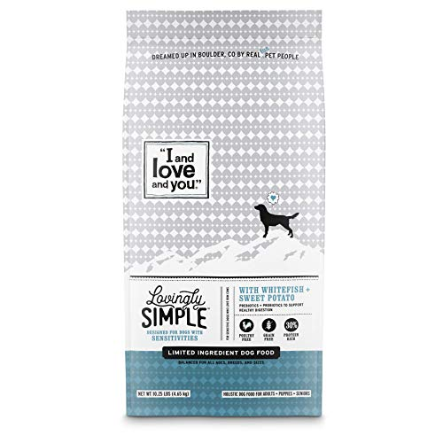 Chewy I and Love and You lovingly simple whitefish sweet potato dog food without chicken