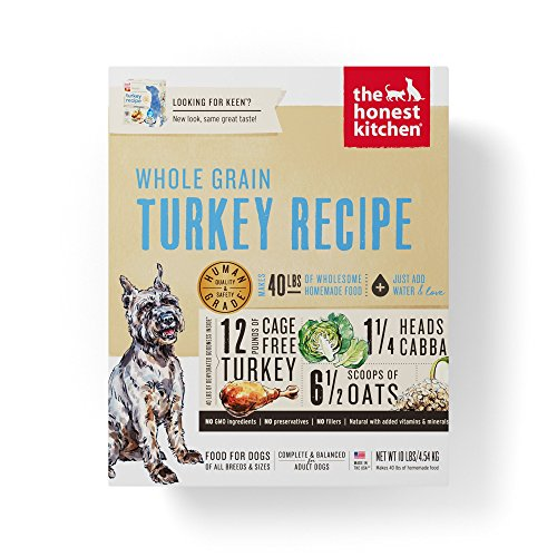 Chewy The Honest Kitchen whole grain turkey recipe dog food without chicken
