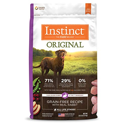 Chewy Nature's Variety instinct grain-free with real rabbit dog food without chicken