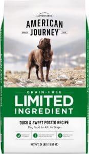 American Journey limited ingredient high-fiber dog food