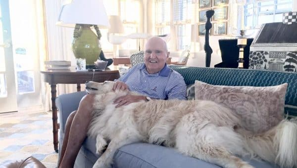 After Years of Resistance, Renowned Business Leader, Jack Welch, Finally Opens His Heart to a Dog