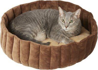 brown large fruit tart cat bed