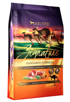 Chewy Zignature grain free kangaroo formula dog food without chicken