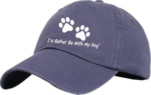 I'd Rather Be with My Dog baseball hat