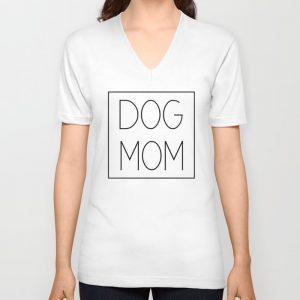 """Dog Mom"" white t-shirt"