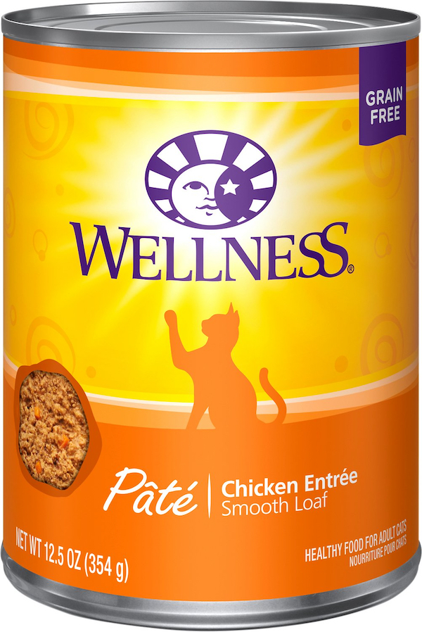 can of Wellness pate cat food