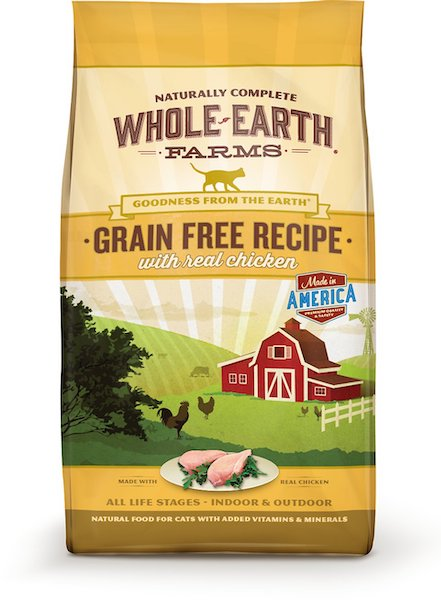 bag of Whole Earth Farms dry cat food