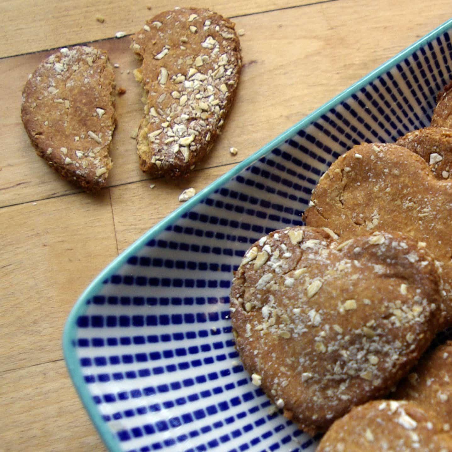chickpea flour dog cookies