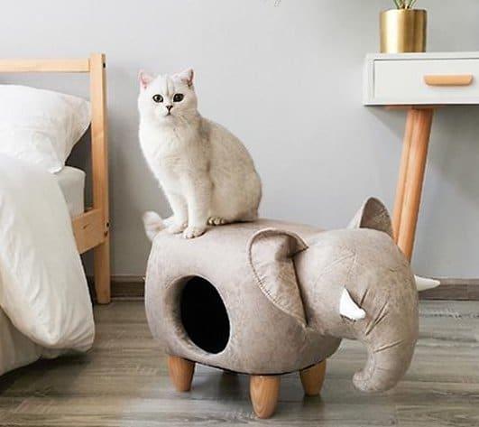 elephant-shaped cat cave