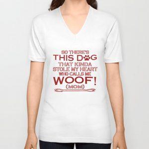 """This Dog Stole My Heart!"" Unisex V-Neck"