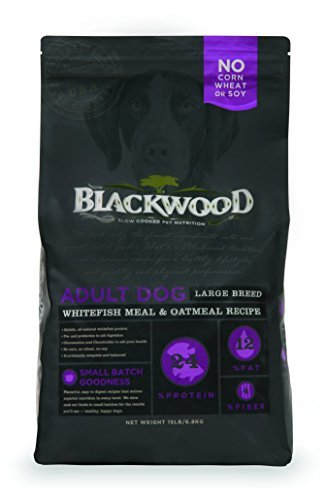 Blackwood whitefish meal and oatmeal dog food for large breeds