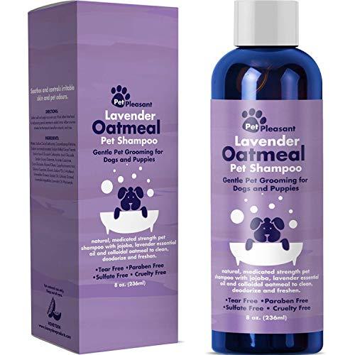 Pet Pleasant Lavender Oatmeal pet shampoo bottle