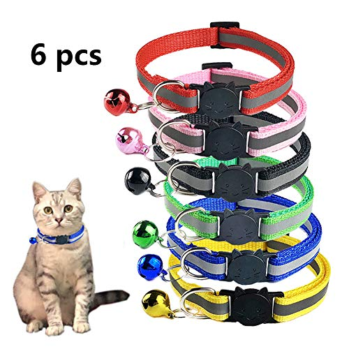 Designer Reflective Cat Collars 2 collars Free UK post