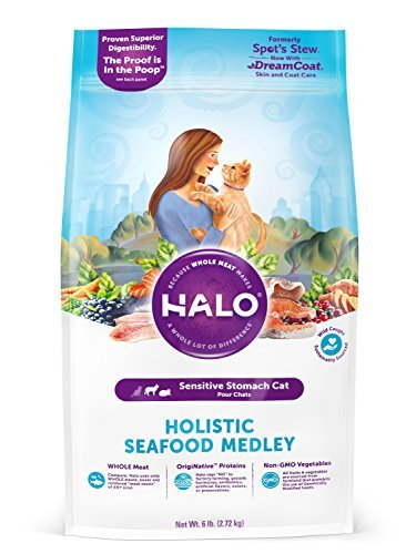 Halo holistic seafood medley cat food for a sensitive stomach