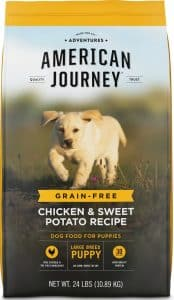 Looking for the best food for a golden retriever puppy? Check American Journey out.