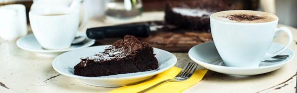 Chocolate cake slice from Manna House Bakery
