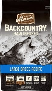 Merrick Backcountry Raw Infused dog food for large breeds