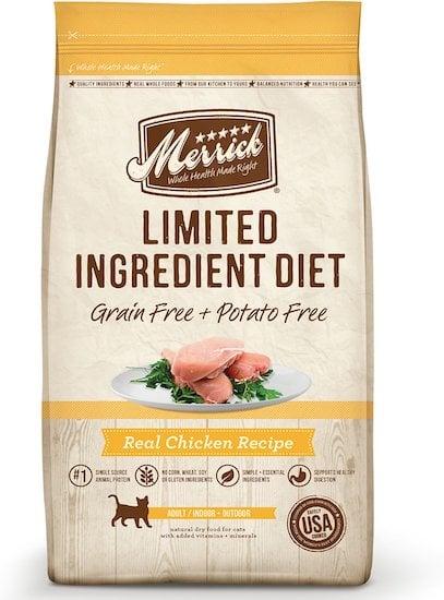 Merrick LID cat food for sensitive stomachs