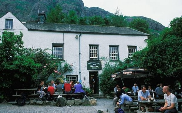 The Old Dungeon Ghyll dog friendly pub in the Lake District is a hiker's paradise.