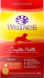 bag of Wellness Complete Health senior dog food