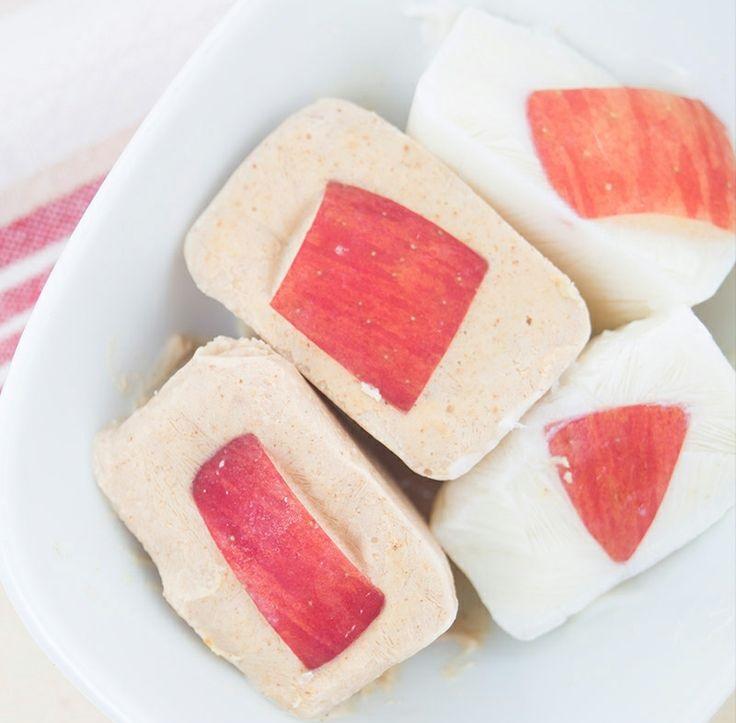 Bevroren pindakaasbonbons met frisse appel