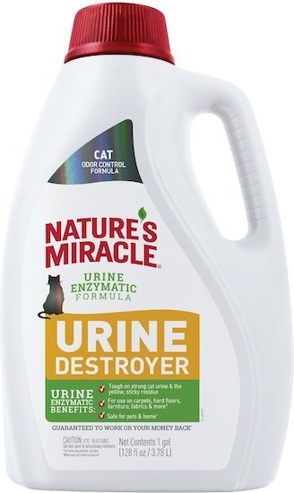 Nature's Miracle formula to get rid of cat pee smell