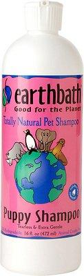 Earthbath puppy shampoo bottle