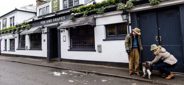 Fox and Grapes Wimbeldon dog-friendly Coffee London