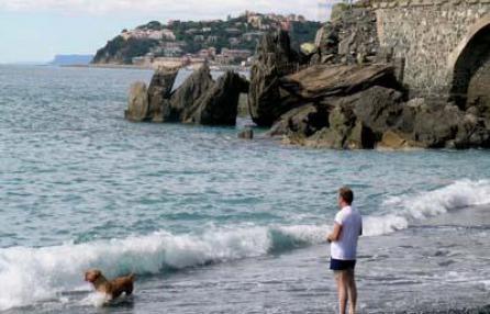 passeggiare con il tuo cane a genova spiaggia di vesima
