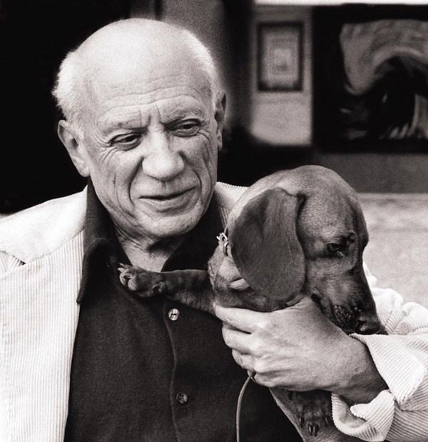 Picasso mit Dackel