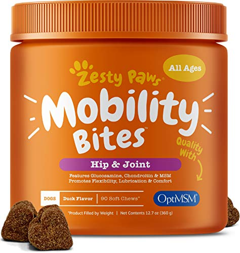 Zesty Paws Mobility Bites for dog hips and joints