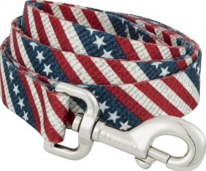 Frisco stars and stripes patterned dog leash