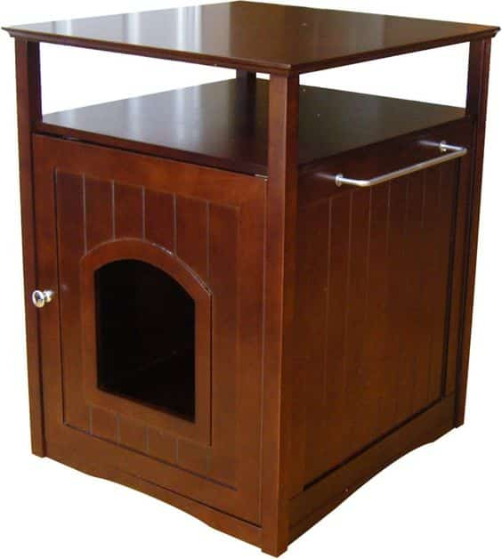 mahogany night stand enclosure for cat litter box