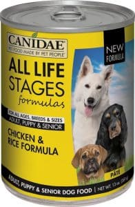 can of Canidae all life stages food for Australian Shepherds