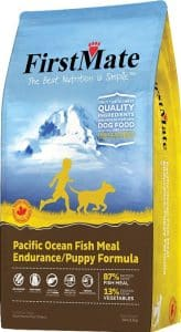 Chewy FirstMate pacific ocean fish meal endurance puppy best dog food for Australian shepherds