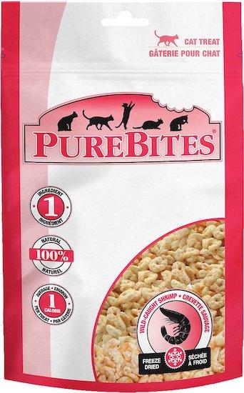 bag of Pure Bites freeze-dried shrimp