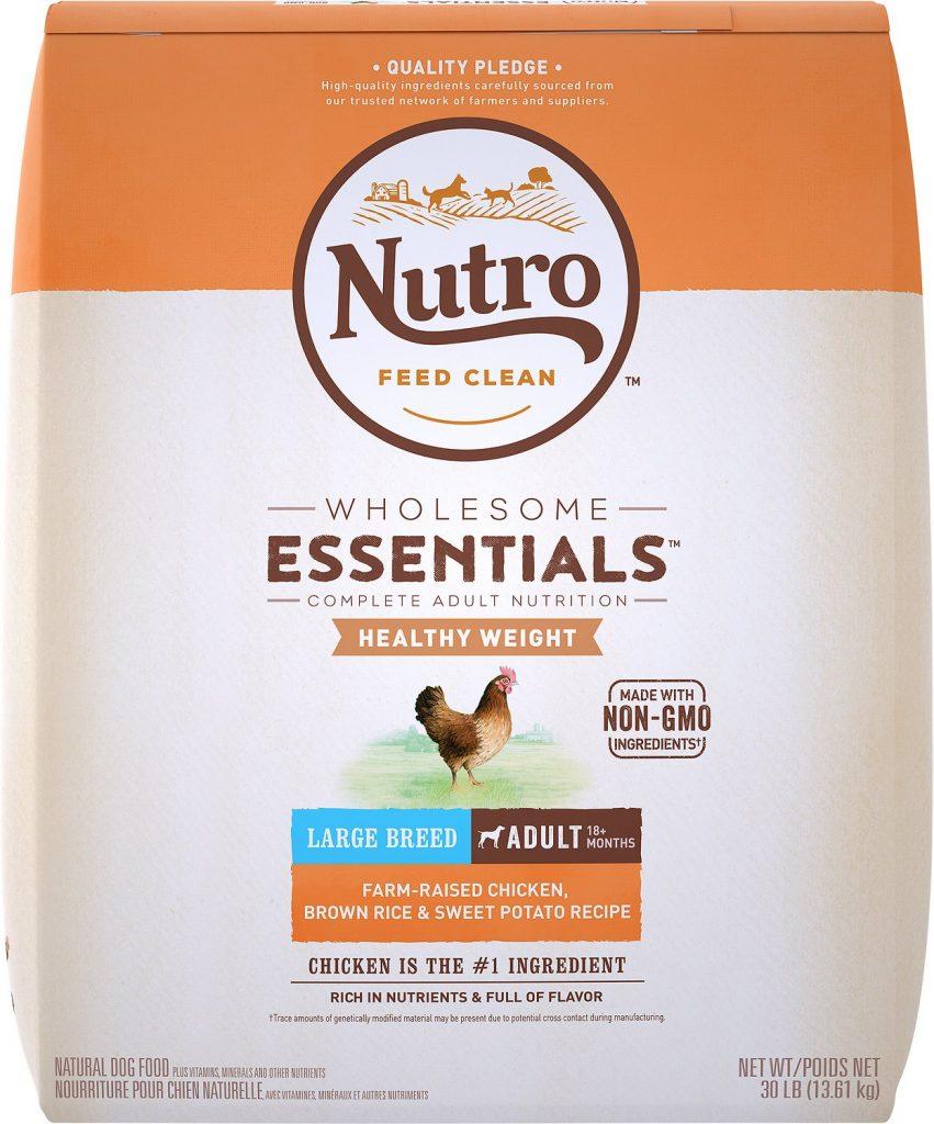 Nutro Essentials large-breed adult food for German shepherds