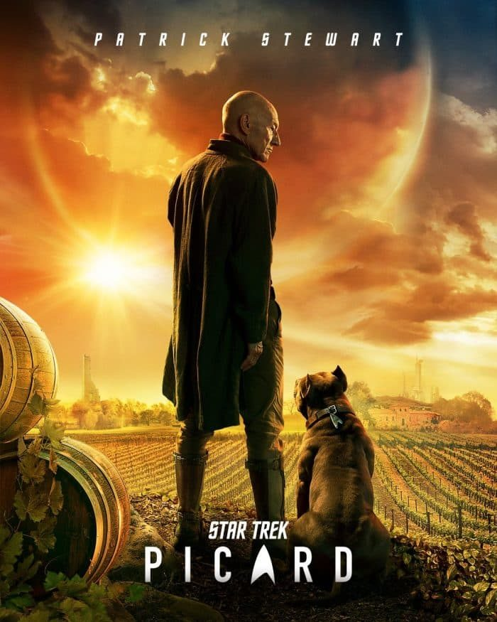 Picard Poster with Dog
