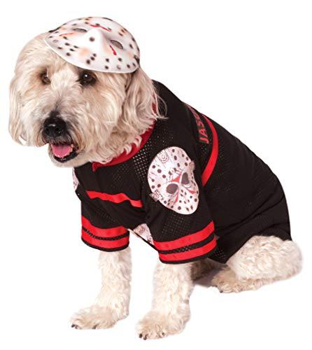 dog in scary Jason costume