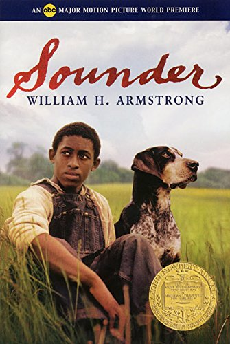 """""""Sounder"""" book cover with boy and dog"""