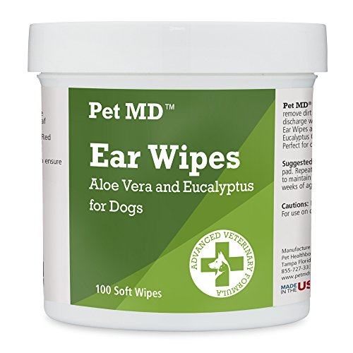 Pet MD ear wipes for dog grooming on the go