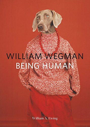 """""""William Wegman Being Human"""" cover with dog in human clothing"""