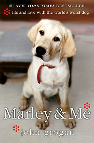 """""""Marley & Me"""" book cover with dog"""