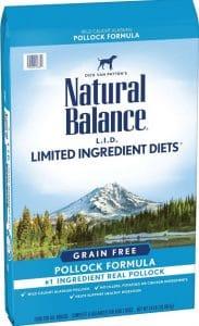 Natural Balance LID grain free dog food for boxers