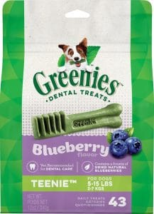 Greenies blueberry dog dental treats