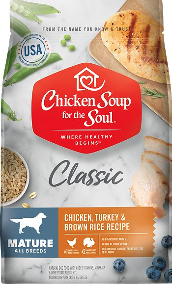 Chicken Soup for the Soul food for mature dogs