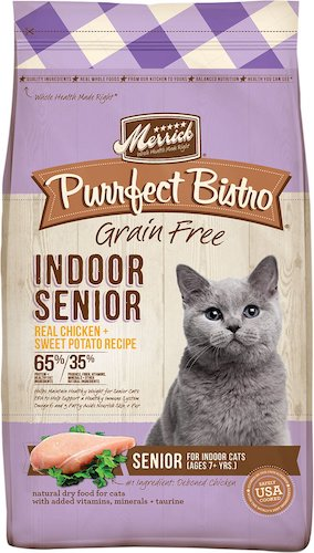Merrick grain-free food for senior cats