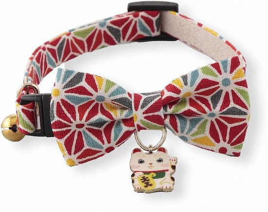 Necoichi lucky charm cat collar with bell